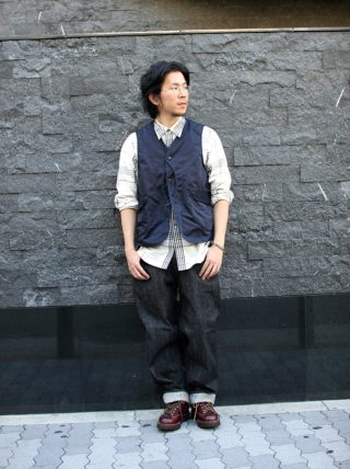 POST OVERALLS / Royal Traveler Polyester Grosgrain Navy