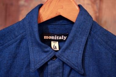 MONITALY  / L/S Four pocket military shirt